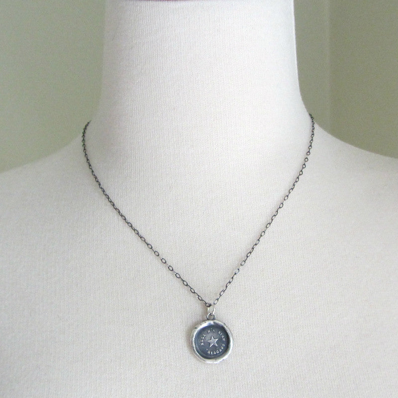 True North Star Wax Seal Necklace - You are my True North - Shannon Westmeyer Jewelry - 4