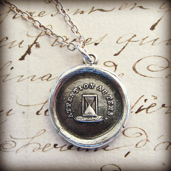 Hourglass Wax Seal - Pay Attention to Time - Shannon Westmeyer Jewelry - 1