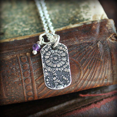 Vintage Lace Tag with Birthstone - Shannon Westmeyer Jewelry - 3