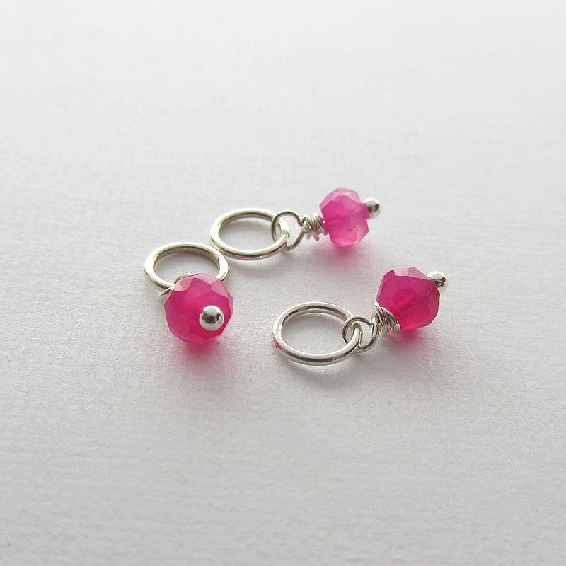 add a stone - Small Hot Pink Chalcedony Stone-Shannon Westmeyer Jewelry