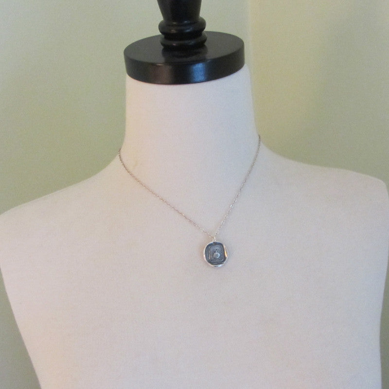 Pocket Watch Wax Seal Necklace - Calm on the Outside, Churning Within - Shannon Westmeyer Jewelry - 5