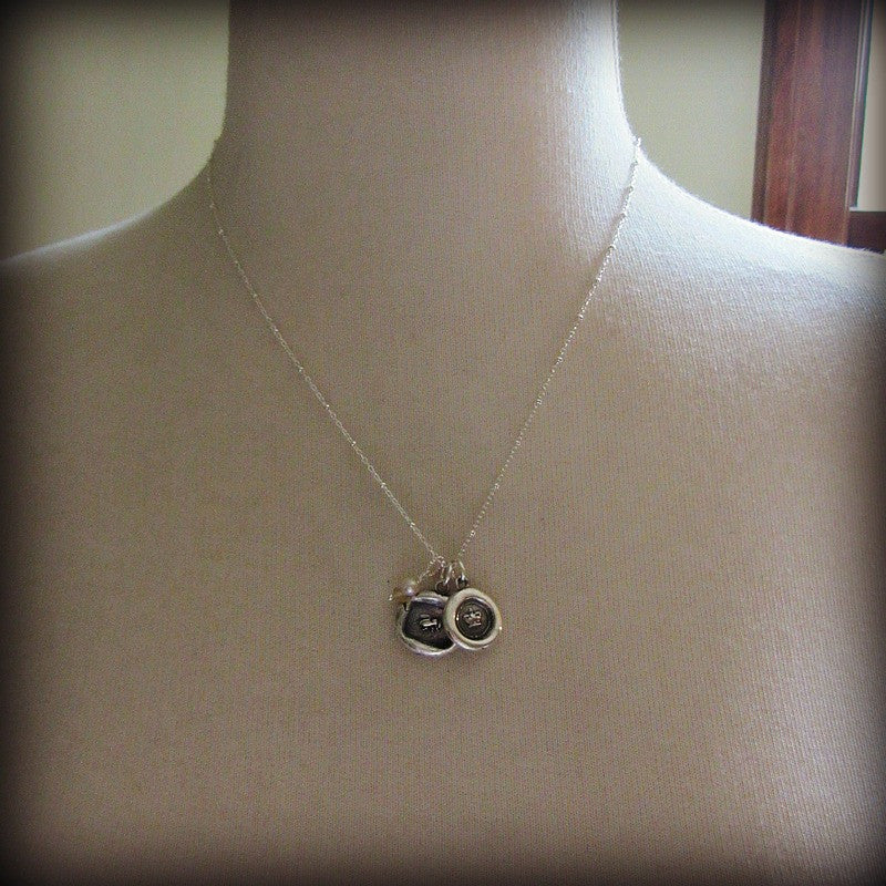Queen Bee & Crown Wax Seal Charm Necklace - Shannon Westmeyer Jewelry - 3