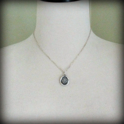 Hope Conquers All - Rabbit Wax Seal Crest Necklace - Hope & Inspiration - Shannon Westmeyer Jewelry - 4
