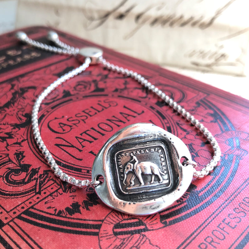 Reason Is My Strength - Adjustable Wax Seal Bracelet