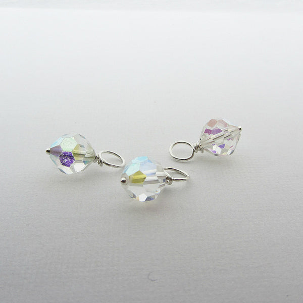 Three vintage reclaimed swarovski crystal