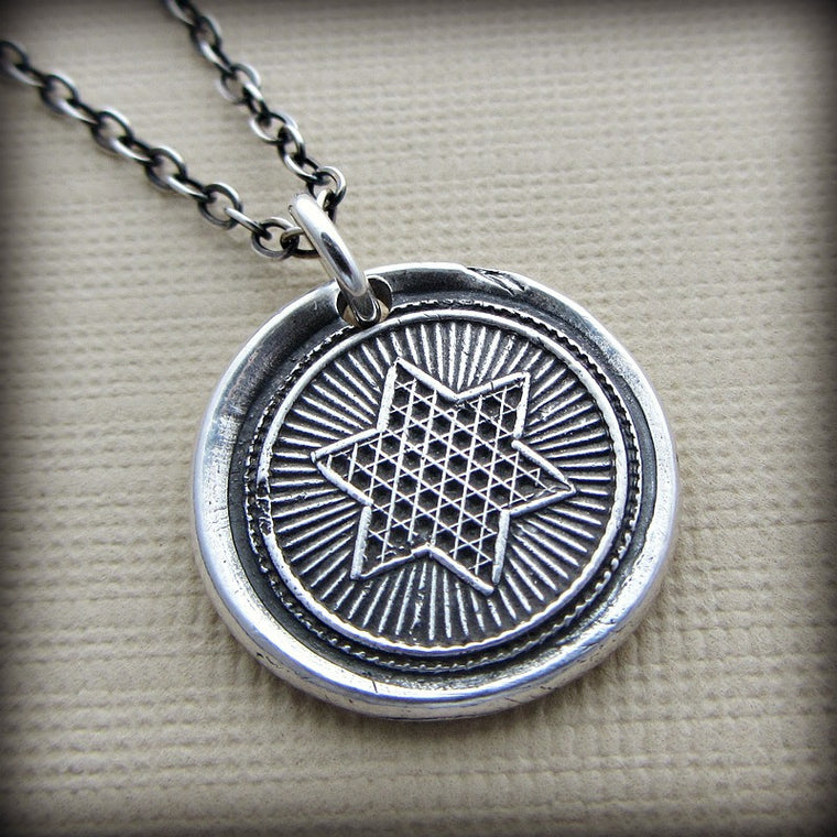 Rising Star Wax Seal Necklace - Shannon Westmeyer Jewelry - 1