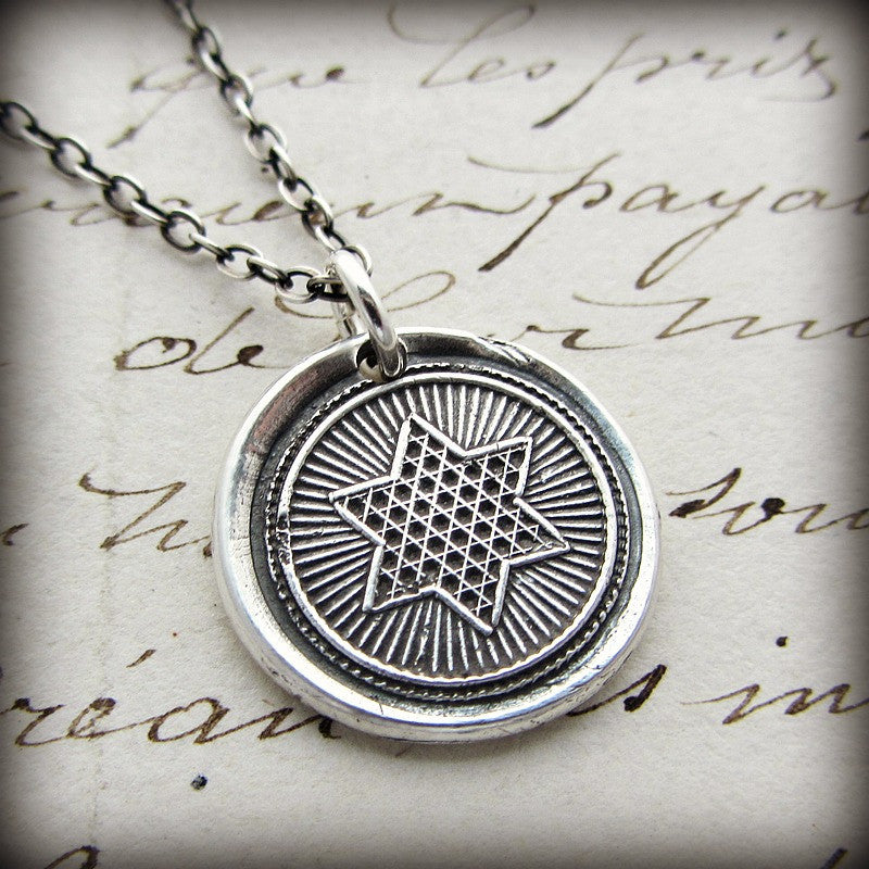 Rising Star Wax Seal Necklace - Shannon Westmeyer Jewelry - 2