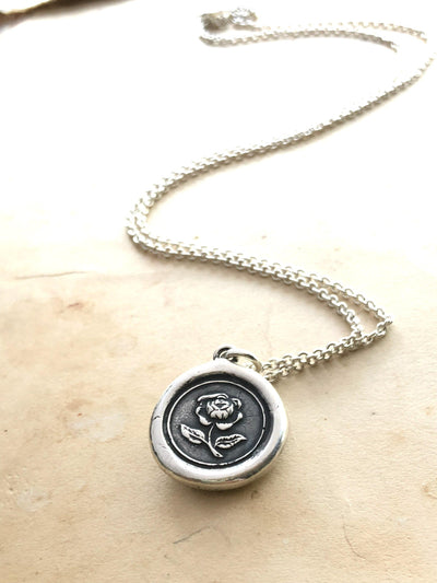 English Rose Wax Seal Pendant-Shannon Westmeyer Jewelry