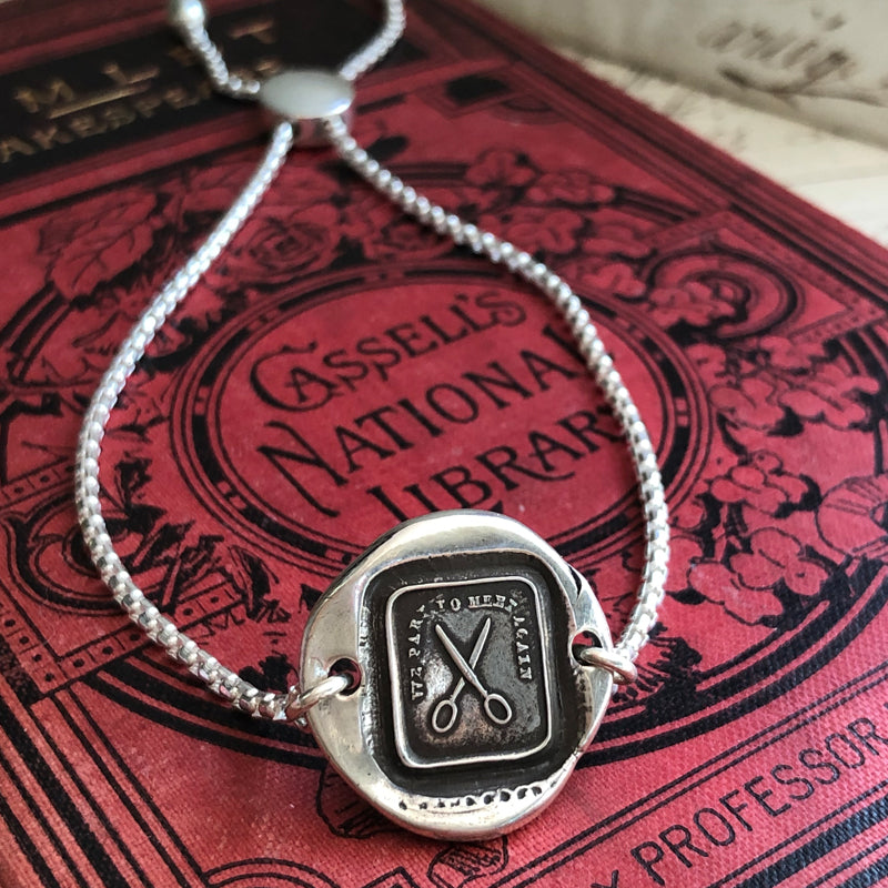 We Part to Meet Again - Adjustable Wax Seal Bracelet-Shannon Westmeyer Jewelry