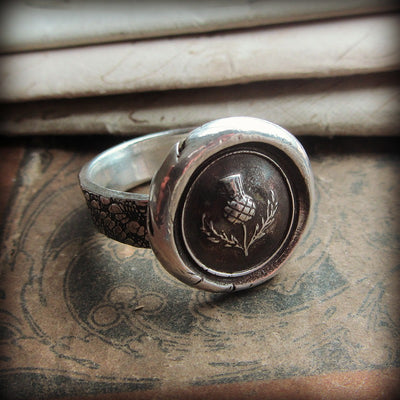 Scottish Thistle Wax Seal Ring - Shannon Westmeyer Jewelry - 1