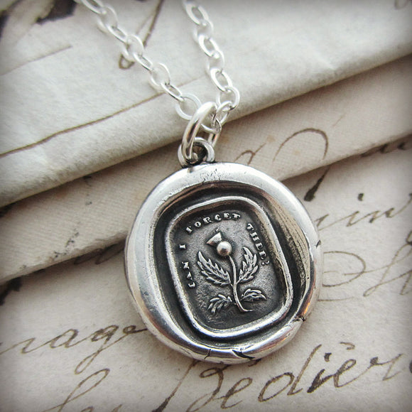 Thistle Wax Seal - Never Forget, Remember Me Always