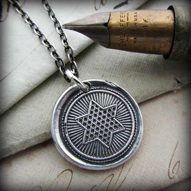 Rising Star Wax Seal Necklace - Shannon Westmeyer Jewelry - 3