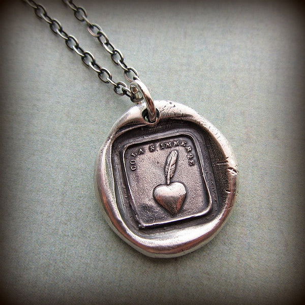 My Heart is Sincere - Heart & Quill Pen - Shannon Westmeyer Jewelry - 1