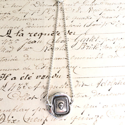 Memento Mori French Skull - Adjustable Wax Seal Bracelet-Shannon Westmeyer Jewelry