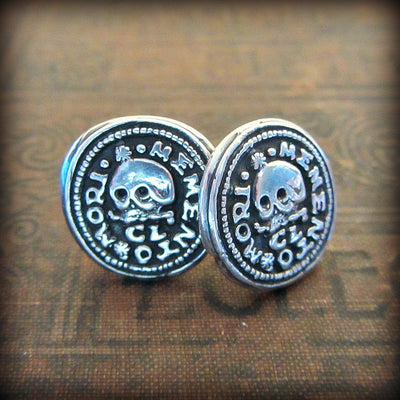 Skull Memento Mori Cuff Links - Shannon Westmeyer Jewelry - 2
