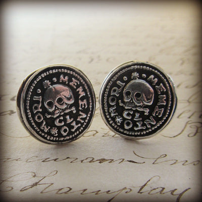 Skull Memento Mori Cuff Links - Shannon Westmeyer Jewelry - 3