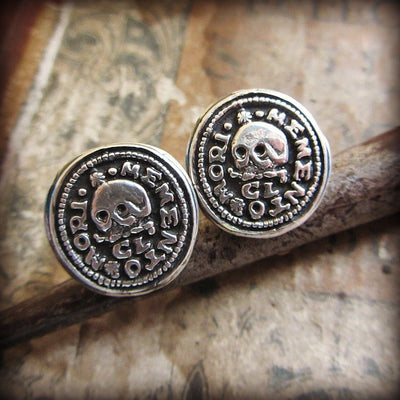 Skull Memento Mori Cuff Links - Shannon Westmeyer Jewelry - 4