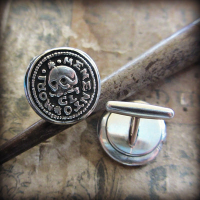 Skull Memento Mori Cuff Links - Shannon Westmeyer Jewelry - 5