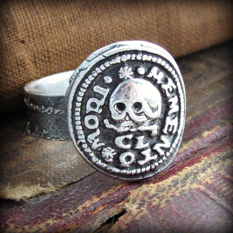 Skull Memento Mori Wax Seal Ring