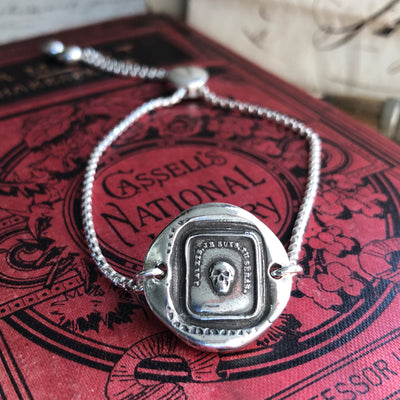 Memento Mori French Skull - Adjustable Wax Seal Bracelet