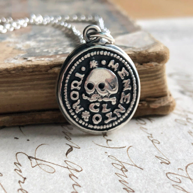 Skull Memento Mori Wax Seal Necklace - Remember Your Mortality