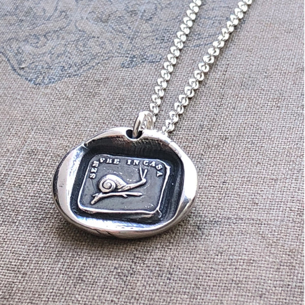 Snail Wax Seal - Home is Always With Me - Shannon Westmeyer Jewelry - 1