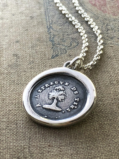 Steadfast Tree Wax Seal Necklace - Faithful & Unwavering-Shannon Westmeyer Jewelry