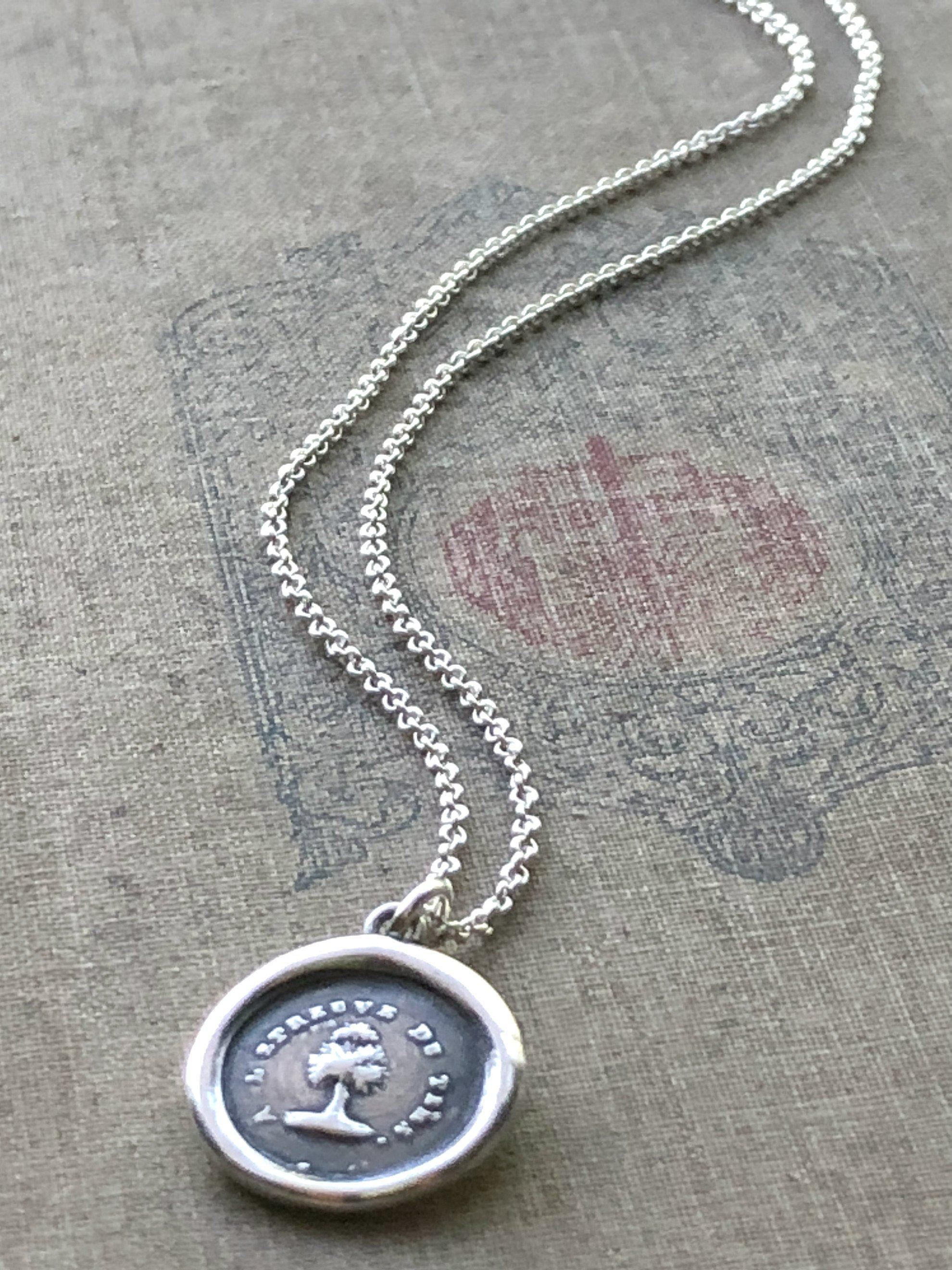 Steadfast Tree Wax Seal Necklace - Faithful & Unwavering