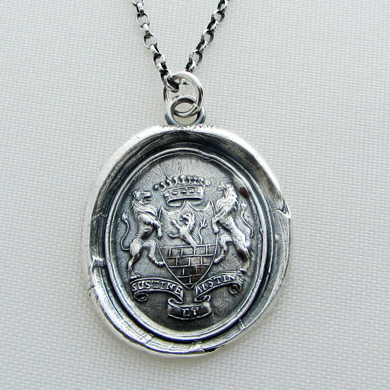 I'm In Control of my Destiny Wax Seal Necklace - Bear & Forbear