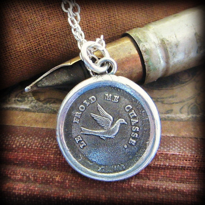 Swallow Wax Seal - Optimistic & Kindhearted - Shannon Westmeyer Jewelry - 2