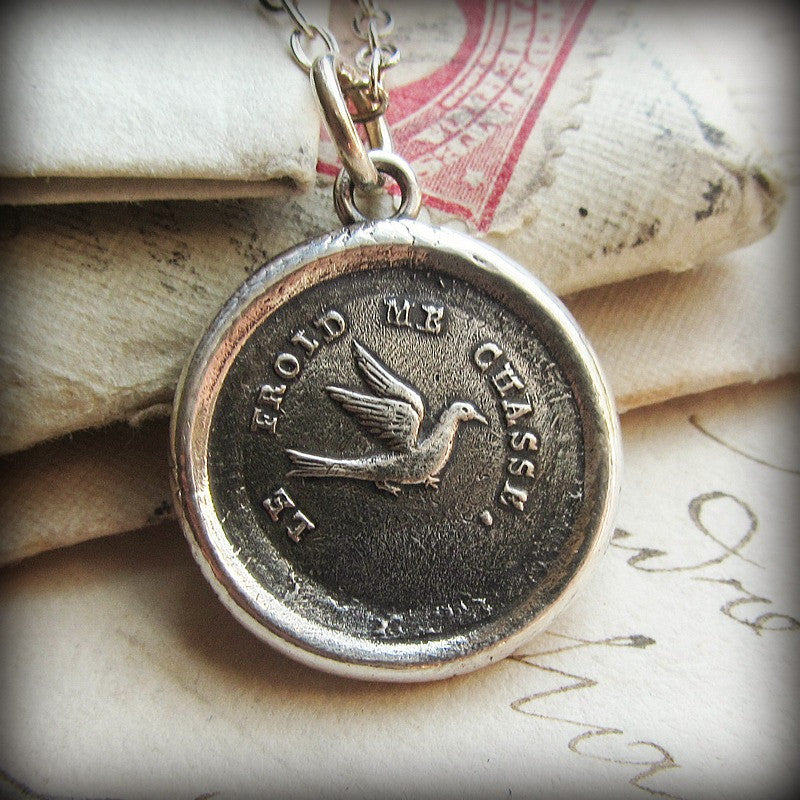 Swallow Wax Seal - Optimistic & Kindhearted - Shannon Westmeyer Jewelry - 1