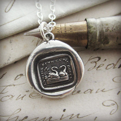 Swan Wax Seal Necklace | Friendship Jewelry