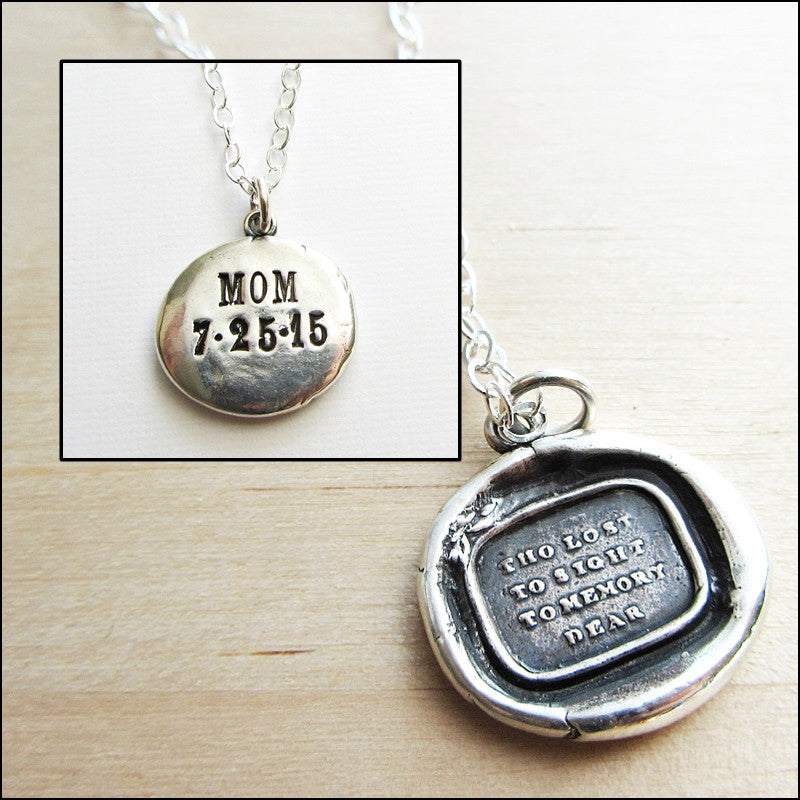 Though Lost to Sight To Memory Dear - Memorial Necklace - Shannon Westmeyer Jewelry - 3