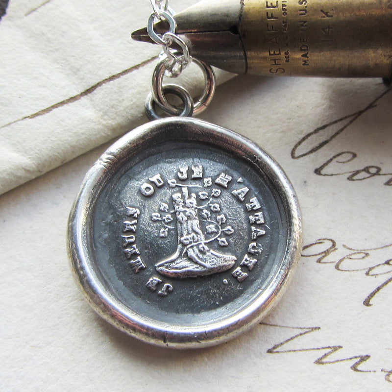 Woodbine and the Oak - Till Death Do Us Part Wax Seal Necklace - Attached Until Death