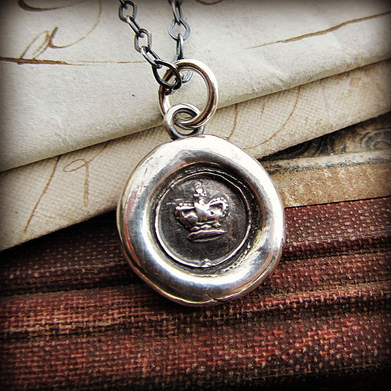 Tiny Crown Wax Seal - Shannon Westmeyer Jewelry - 1