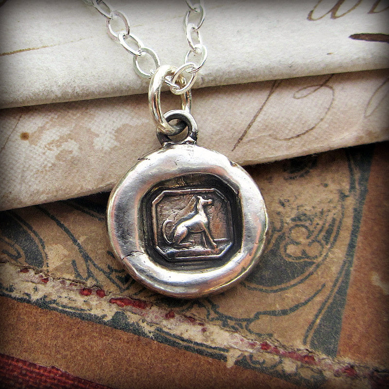 Tiny Greyhound Wax Seal Charm - Shannon Westmeyer Jewelry - 1