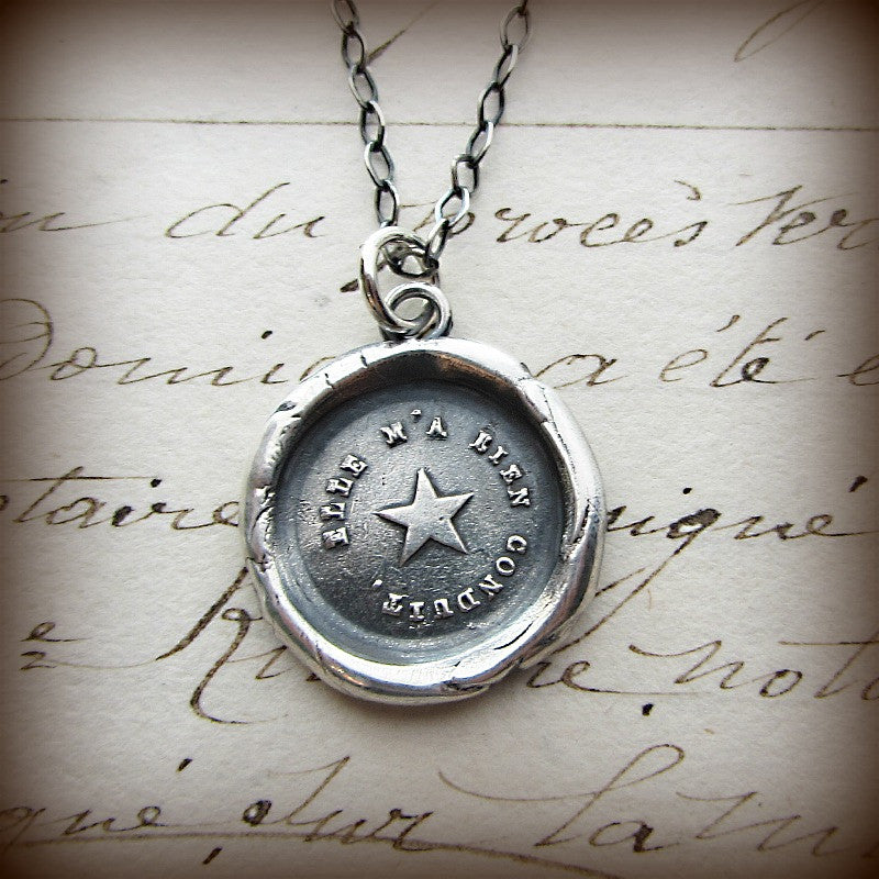 True North Star Wax Seal Necklace - You are my True North - Shannon Westmeyer Jewelry - 2