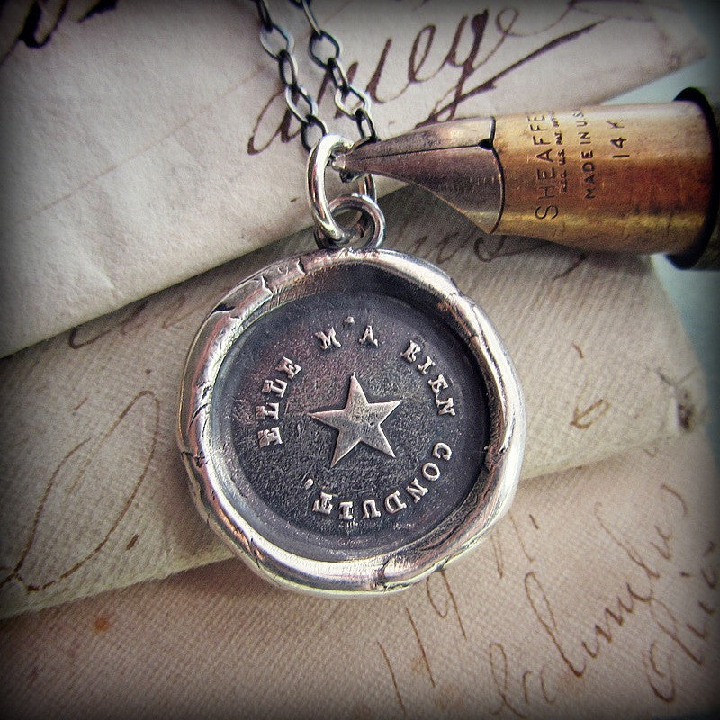 True North Star Wax Seal Necklace - You are my True North