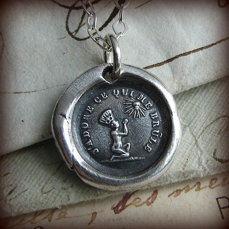 Love is Blind  and Unconditional Love wax seal necklace.