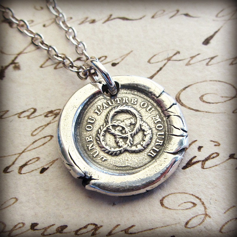 Unity Wax Seal Necklace - Strength in Unity - Shannon Westmeyer Jewelry - 3