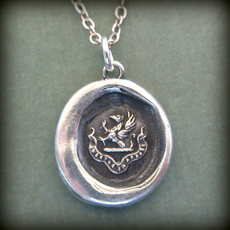 Courage in Difficulties wax seal neckace