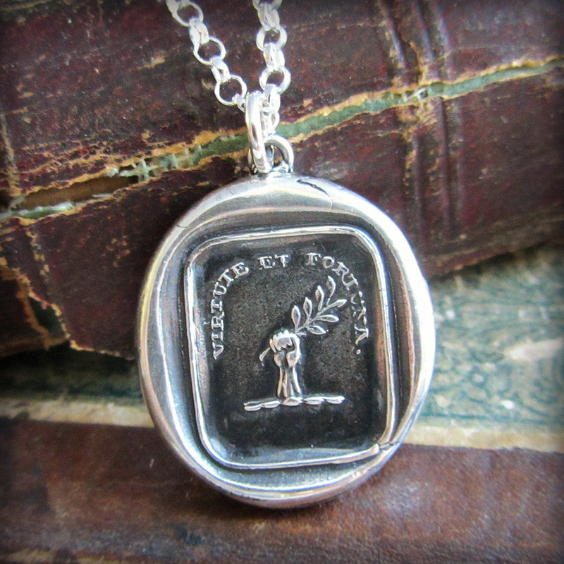 Fortune Favors the Brave Wax Seal Charm
