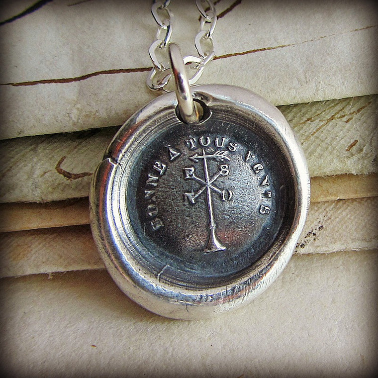 Happy in all Winds Wax Seal Necklace