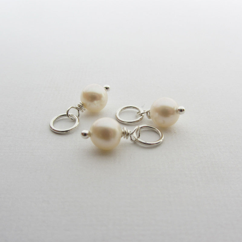 Three fresh water pearls