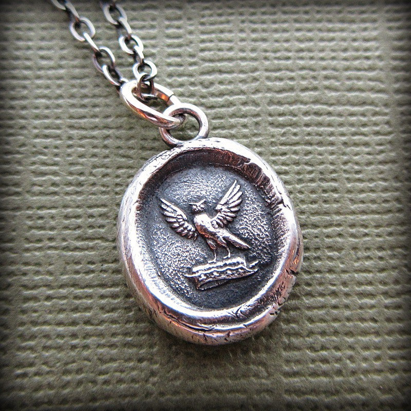 Watchful Protector - Owl Wax Seal Necklace - Shannon Westmeyer Jewelry - 2