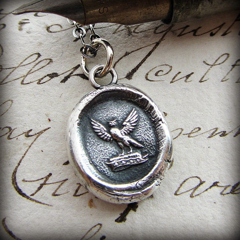 Watchful Protector - Owl Wax Seal Necklace - Shannon Westmeyer Jewelry - 3