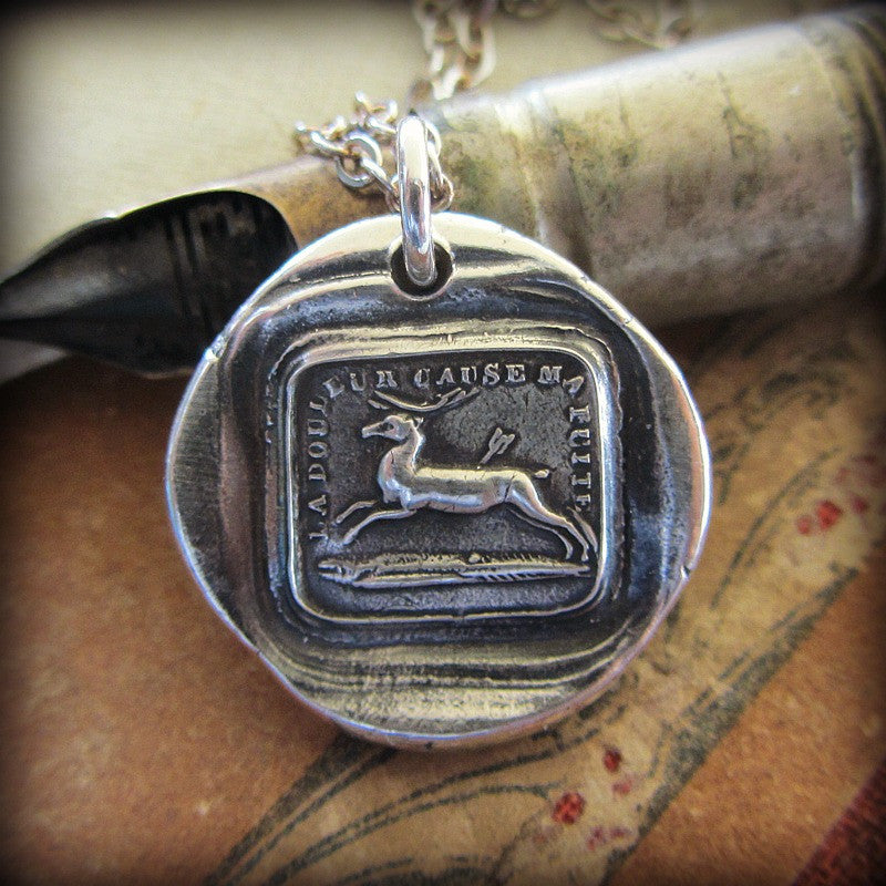 Endure Wax Seal Pendant- I Will Go On