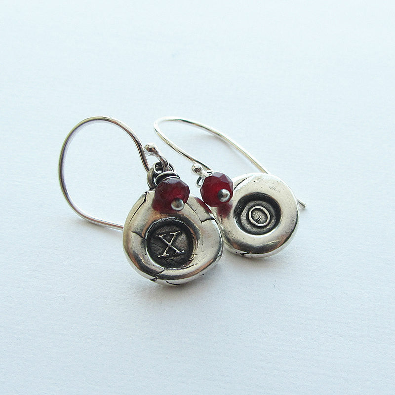 Wax Seal Dangle Earrings