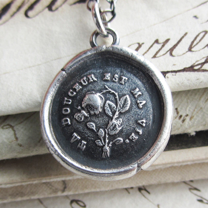 Your Sweetness is My Life - You Sustain Me Wax Seal Charm Necklace