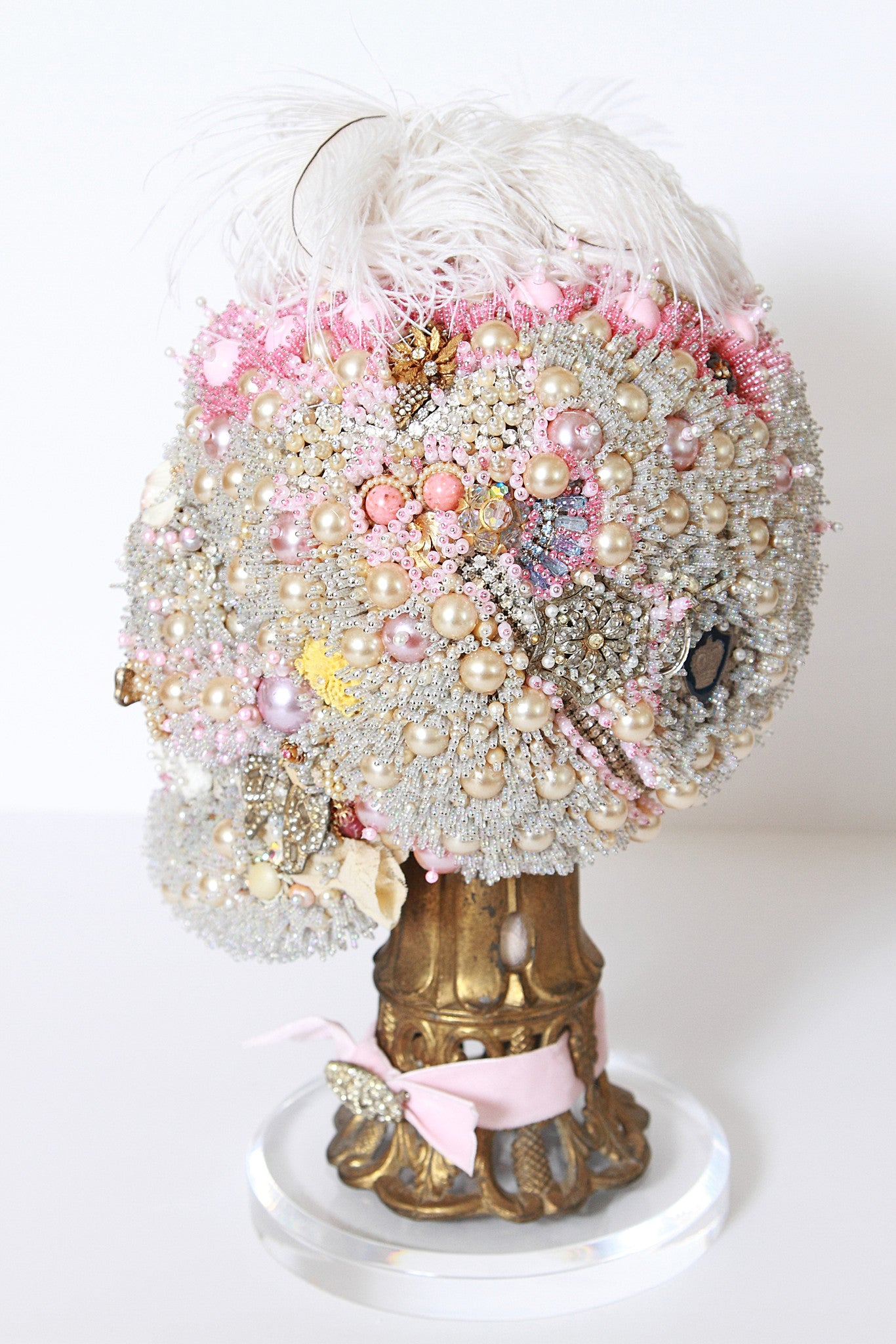 La Tête de Marie Antoinette Beaded Sculpture